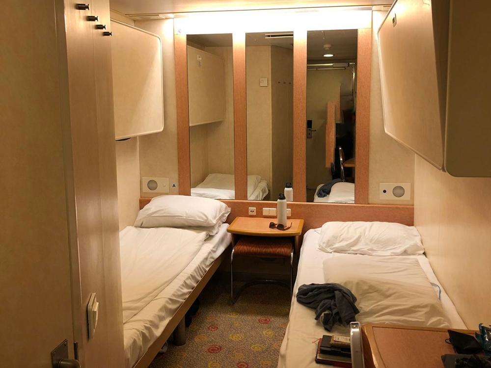 Splodz Blogz | Brittany Ferries Cap Finistère Inside Cabin (4 berth)
