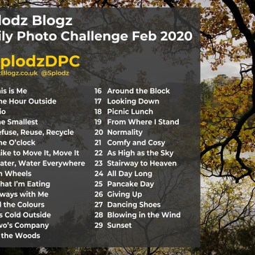 THE SPLODZ BLOGZ DAILY PHOTO CHALLENGE FEB 2020 | #SPLODZDPC