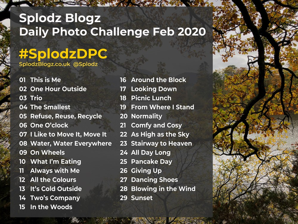 Splodz Blogzg Daily Photo Challenge February 2020 #SplodzDPC