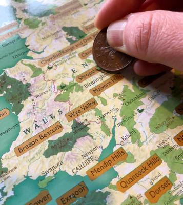 Splodz Blogz | Great British Outdoors Scratch Map by Maps International