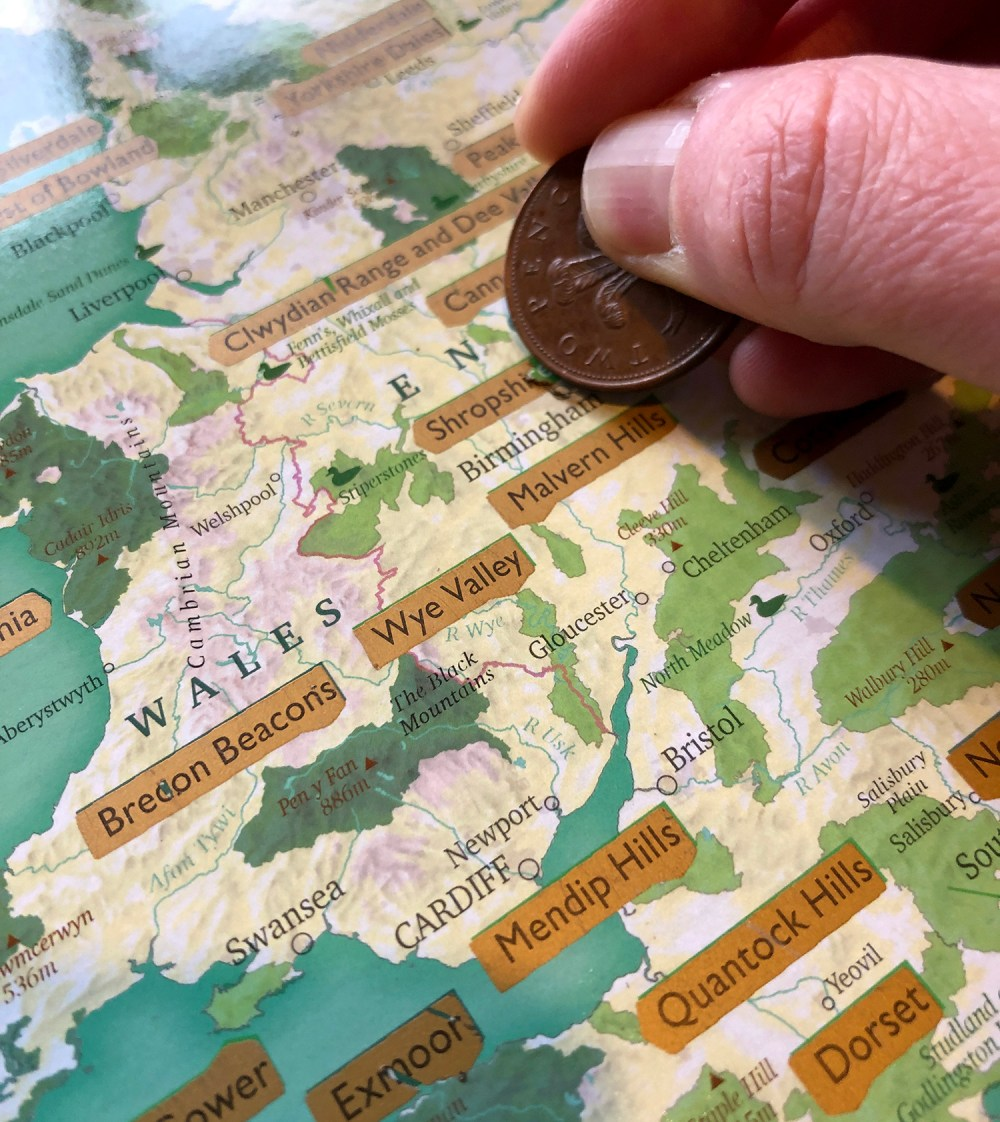 Splodz Blogz | Great British Outdoors Scratch Map by Maps International