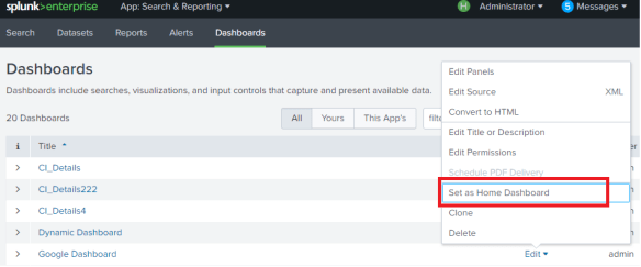 How to remove Home Dashboard from Splunk - Splunk on Big