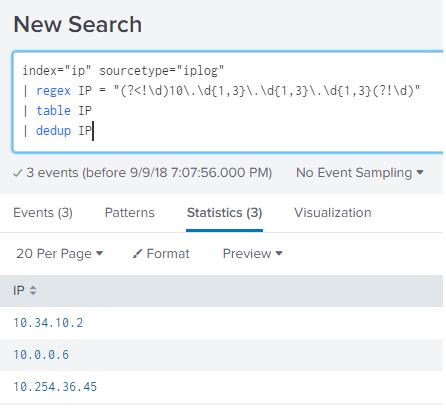 Usage of Splunk commands : REGEX - Splunk on Big Data