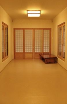 Ondol Style - sleeping on the floor with matress.