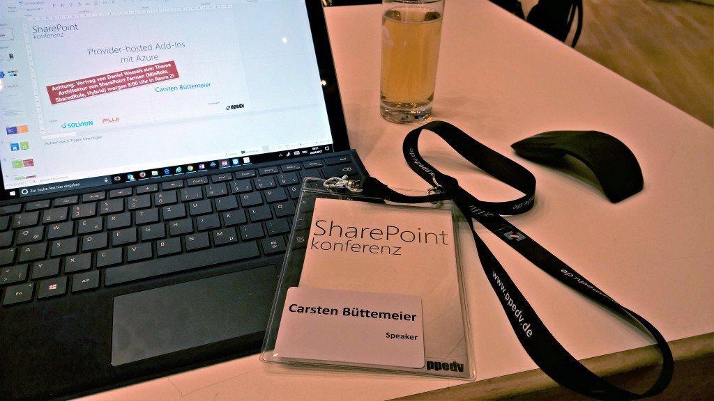 """Session """"Provider-hosted Add-Ins mit Azure"""" auf der SharePoint konferenz"""