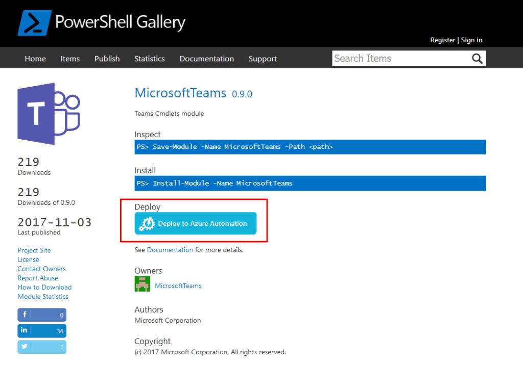 PowerShell in Azure deployen