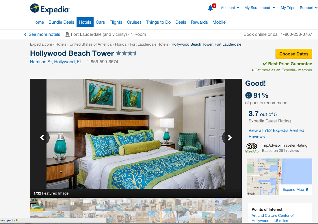 hollywood beach tower expedia listing