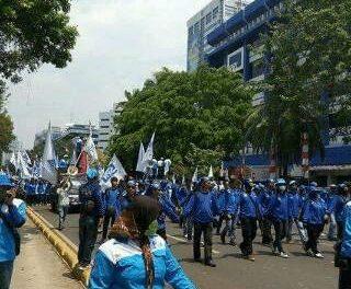 Aksi mogok daerah di Kota Tanggerang