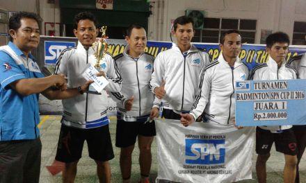 DARI HOBBY MENGUKIR PRESTASI II TURNAMEN BULU TANGKIS SPN CUP II 2016