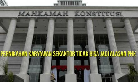 PERNIKAHAN KARYAWAN SEKANTOR TIDAK BISA JADI ALASAN PHK