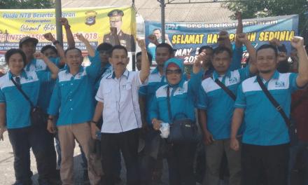 SPN NTB MEMPERINGATI MAY DAY 2018 DENGAN AKSI DAMAI