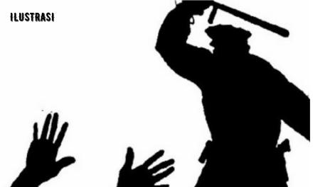 BURUH CV BAS BENTROK DENGAN POLISI