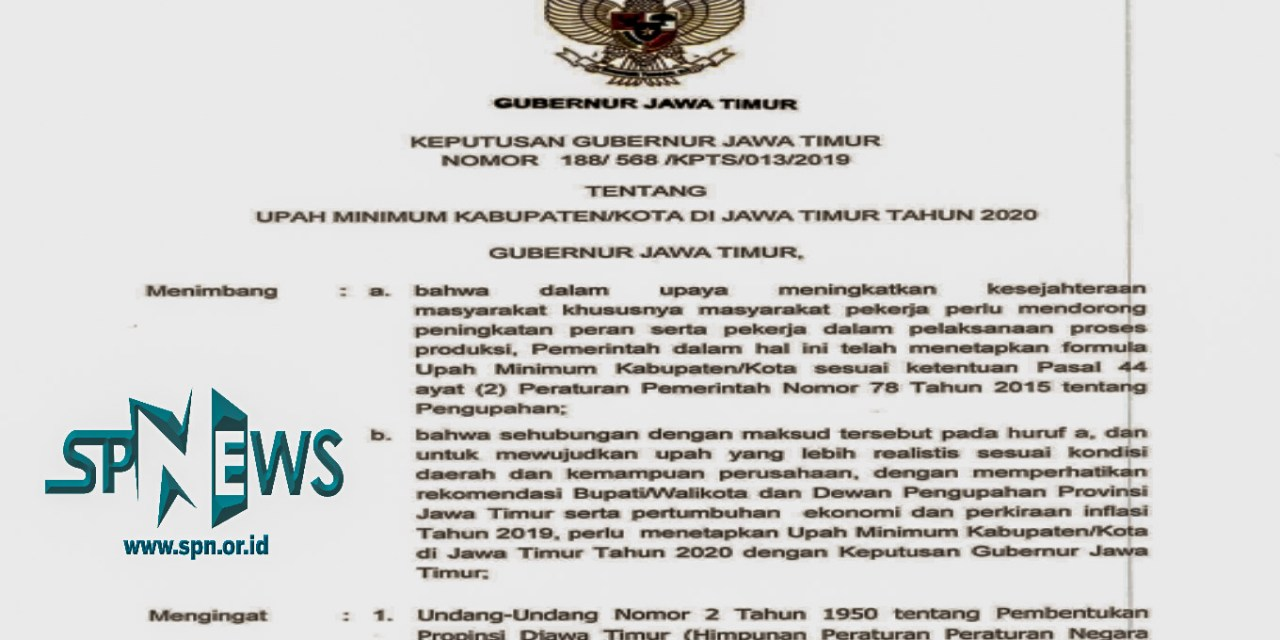 SETELAH UMK DISAHKAN SESUAI PP NO 78/2015, ASA BURUH SIDOARJO TINGGAL MENUNGGU UMSK