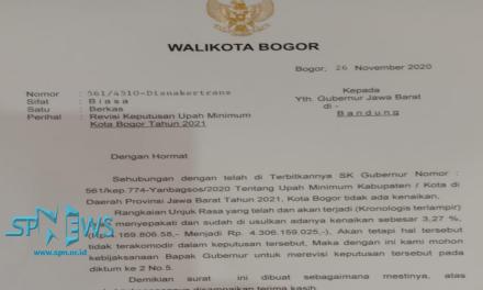 BIMA ARYA MEMINTA GUBERNUR JAWA BARAT REVISI UMK KOTA BOGOR 2021