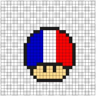 France Mushroom Perler Bead Pattern Mario Pixel Art Minecraft Pixel Art Elf Hd Png Download 610x610 6566450 Pngfind