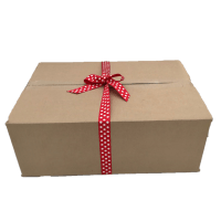 Medium Brown Box with Ribbon