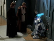Obi-Wan and Anakin with R2D2