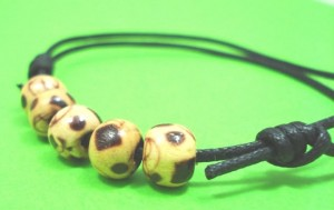 Wooden mans anklet jewellery