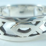 Sterling Silver Christian Fish Ring Band