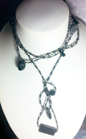 extra long gem Glass necklace jewellery  http://spoilmesilly.com.au/