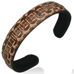 Brown Tribal Cuff Bracelets