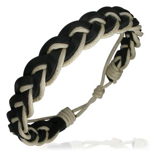 Leather Brown Cream Bracelet