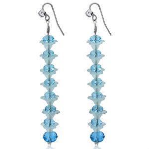 Blue Crystal Long Earrings