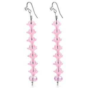 Pink Crystal Long Earrings