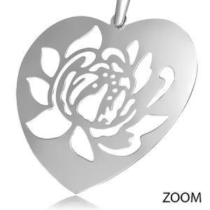Flower Heart Long Earrings