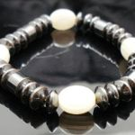Hematite Gem Glass Beaded Stretch Bracelet Bangle NEW