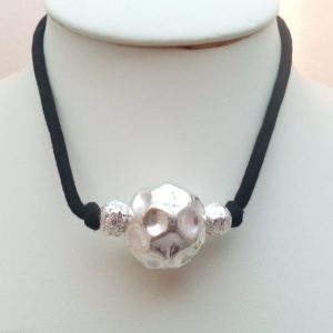 Jewellery-16-Large-Round-Metal-Silver-Meteor-Thing-Womens-Choker-Necklace-New-161364050709-3
