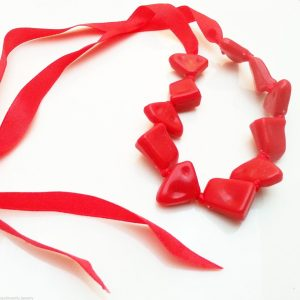 Jewellery-Resin-Extra-Long-48-Red-Necklace-Large-Bracelet-Anklet-Ribbon-New-400740944699-2