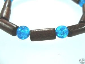 NEW-WOMENS-BEADED-WOOD-COCO-SURF-WOODEN-BRACELET-BANGLE-150397301936