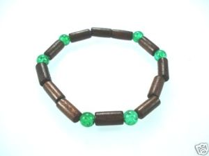 NEW-WOMENS-BEADED-WOOD-COCO-SURF-WOODEN-BRACELET-BANGLE-400091506716-2