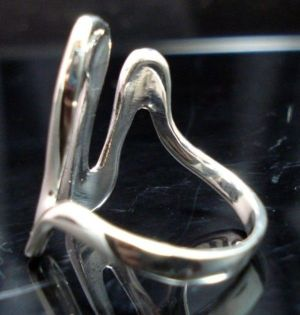 STERLING-SILVER-925-WAVE-SHINNY-WOMANS-RING-NEW-400482354239-3