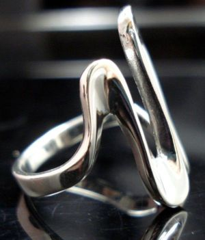 STERLING-SILVER-925-WAVE-SHINNY-WOMANS-RING-NEW-400482354239-6