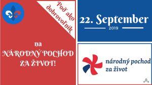 Poď ako dobrovoľník na POCHOD ZA ŽIVOT v nedeľu 22.9.2019