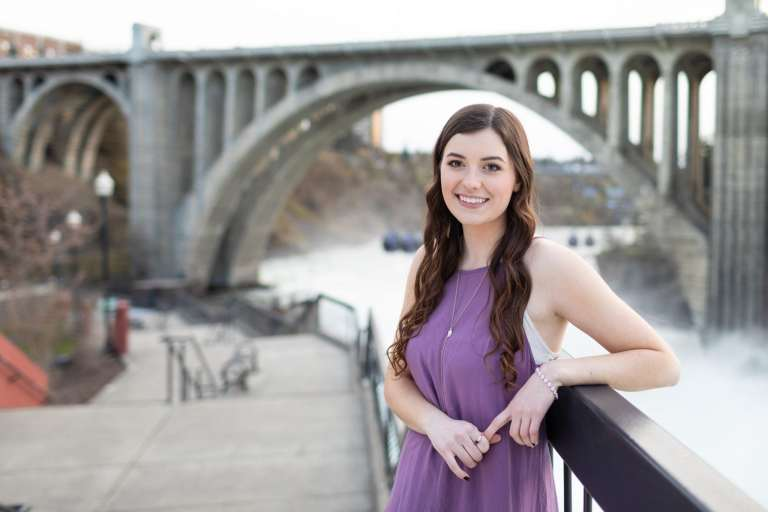 Collage graduation pictures in downtown Spokane WA