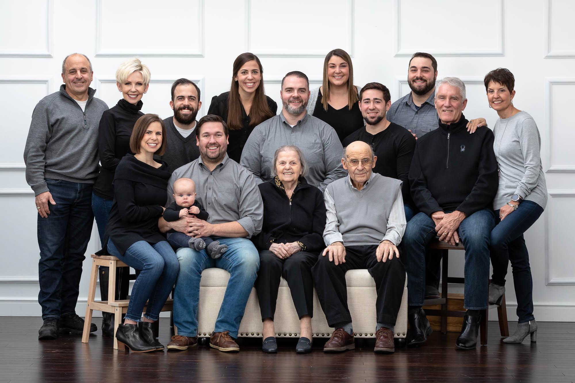 Large family portrait Spokane WA