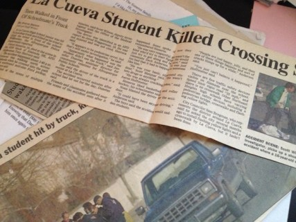 Newspaper clips of the news of Daniel's death