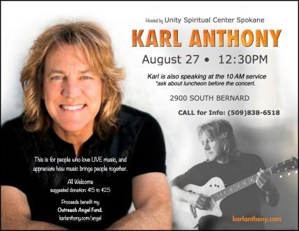 Karl Anthony concert @ Unity Spiritual Center |  |  |