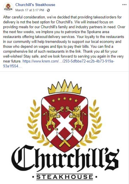 Churchill's Response to COVID-19
