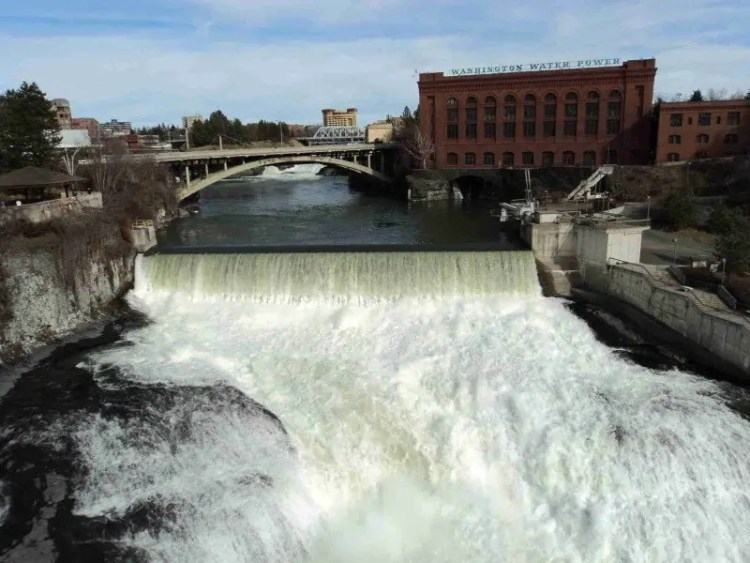 Spokane Falls from Monroe Street Bridge