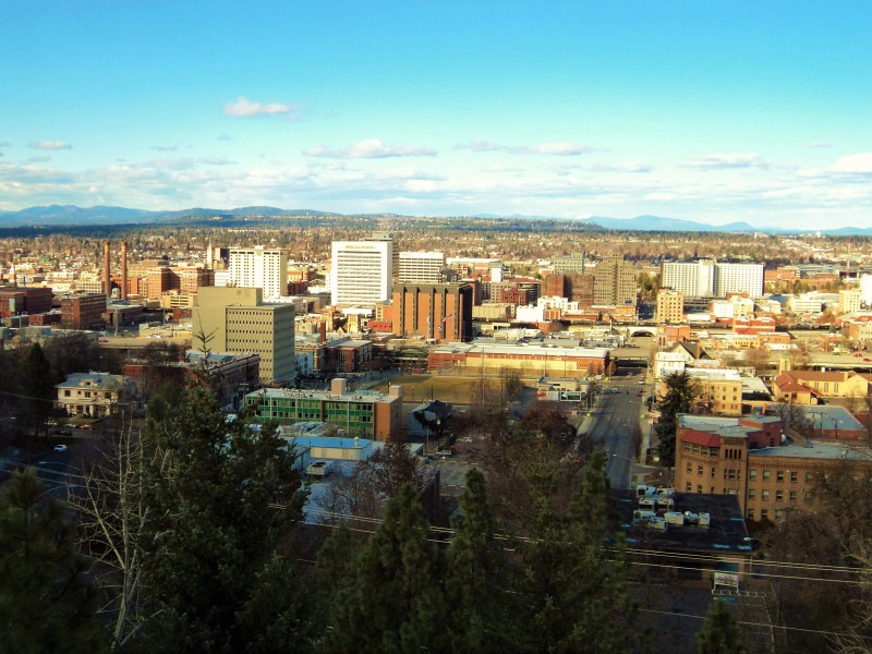 The View from Cliff Drive, Downtown Spokane
