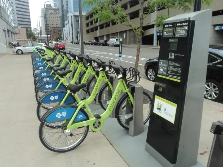 A Minneapolis Bike Share Rack