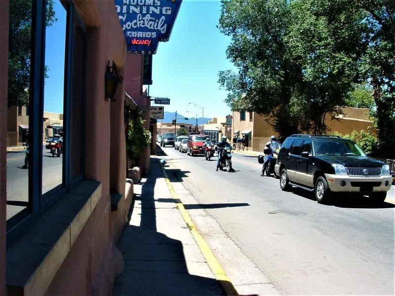 Taos New Mexico Sidewalk