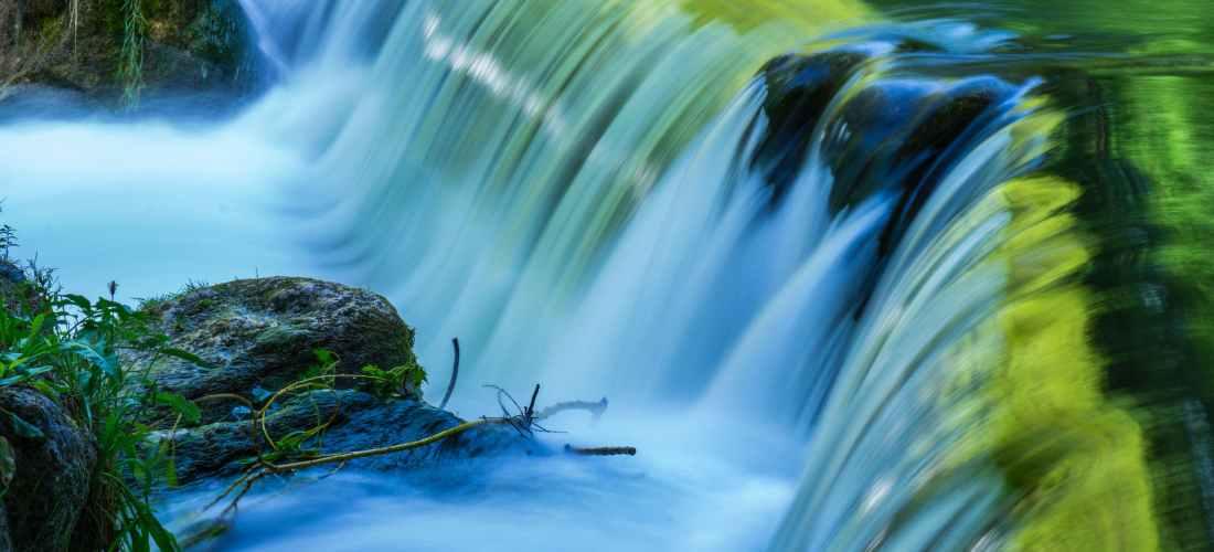 timelaps photo of waterfalls