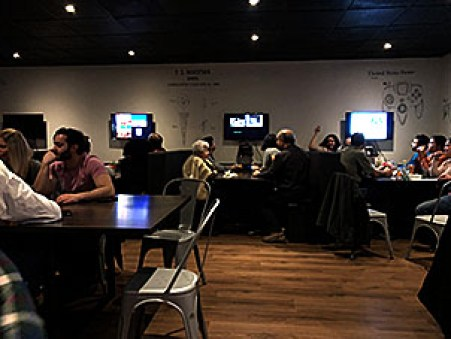 The Patent Social is a new bar in Waterloo that offers people a place to spend time with friends, play video games and enjoy live music. Photo by Peter Swart