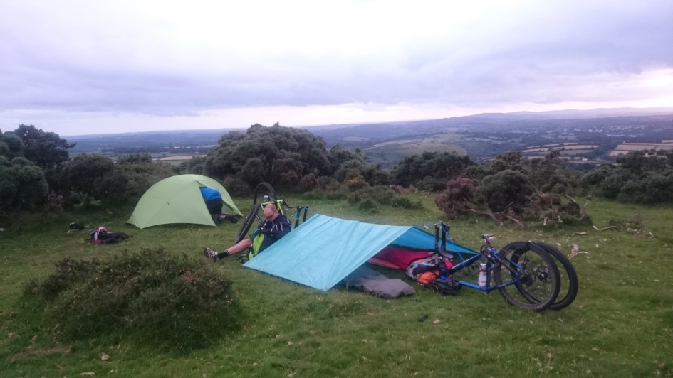 Our camp, setup and ready