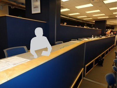 The new Invisible Man at work in the Twins press box Photo by Charles Hallman